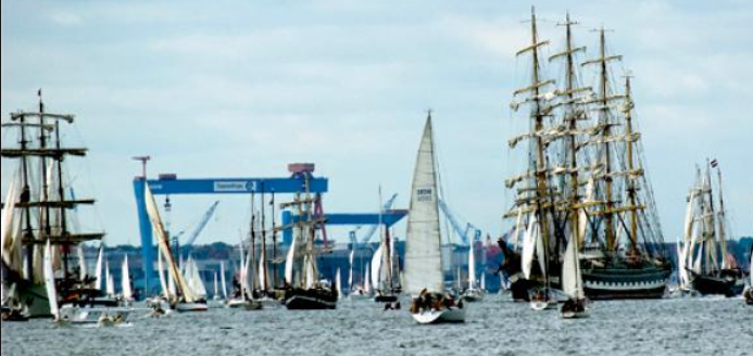 Windjammer segel parad Kiel veckan