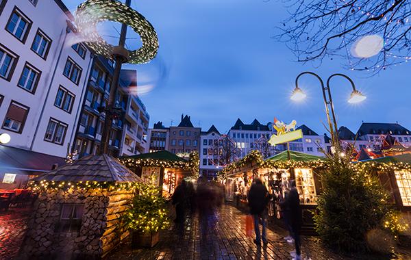 Bild från julmarknad i Köln